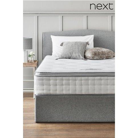 Next 1500 Pocket Sprung With Memory Foam Pillowtop Medium Mattress -  White