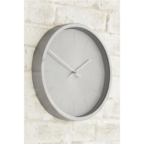 Next Metallic Wall Clock -  Silver