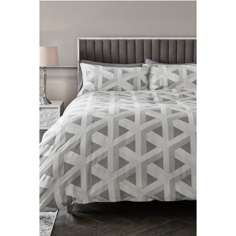 Next Optical Geo Duvet Cover And Pillowcase Set -  S...