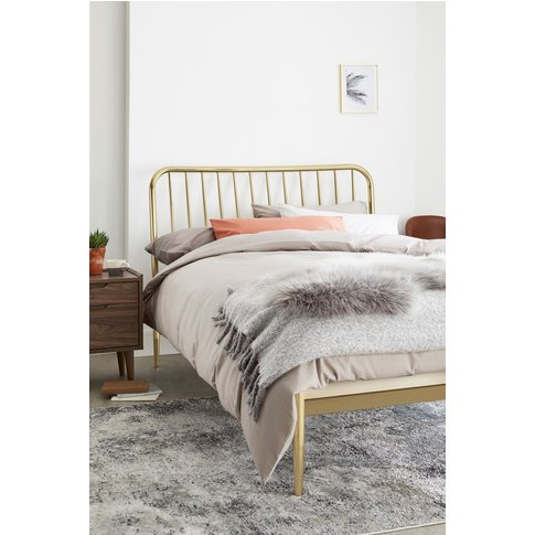 Next Loxley Metal Bed -  Gold