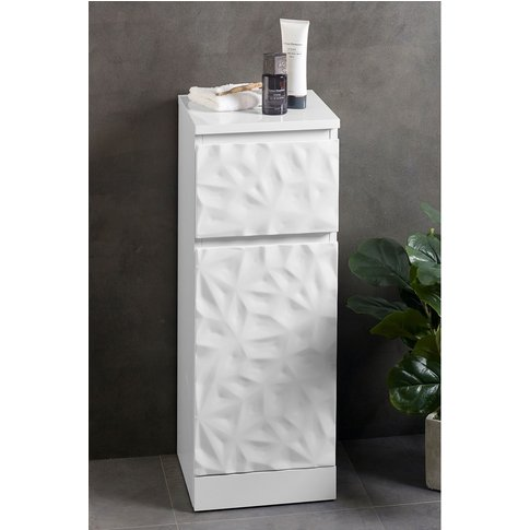 Next Mode Textured Small Storage Unit -  White