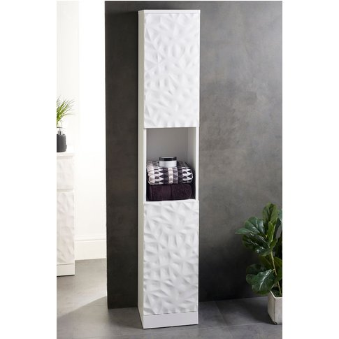 Next Mode Textured Tall Storage Unit -  White