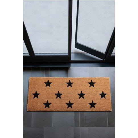 Next Patio Stars Doormat -  Natural