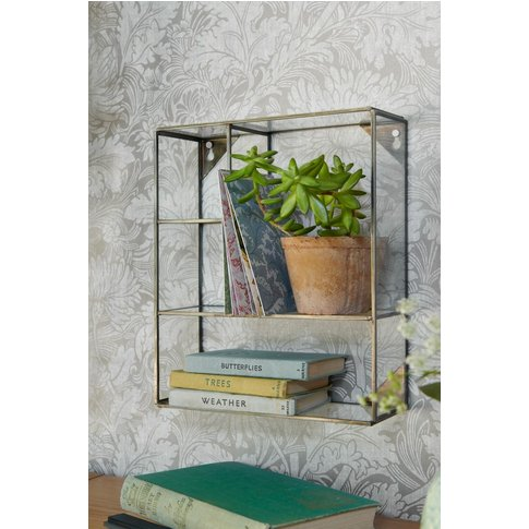 Next Glass And Metal Display Cabinet -  Silver