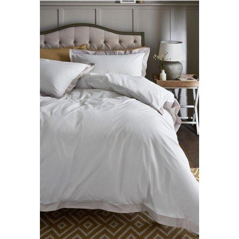Next Natural Border Duvet Cover and Pillowcase Set -...