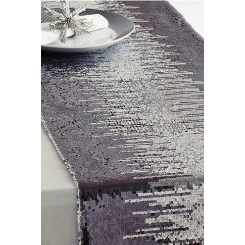 Next Sequin Table Runner -  Silver