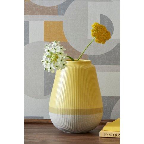 Next Ochre Ceramic Vase -  Yellow