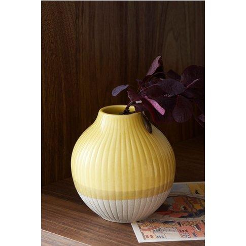 Next Small Ochre Ceramic Vase -  Yellow