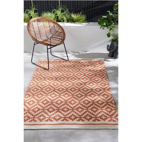 Next Indoor/Outdoor Recycled Rug -  Orange