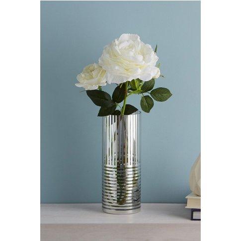 Next Metallic Stripe Vase -  Silver