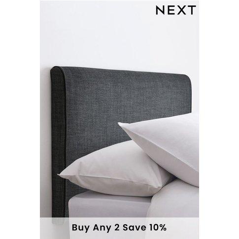 Next Contemporary Upholstered Headboard -  Grey