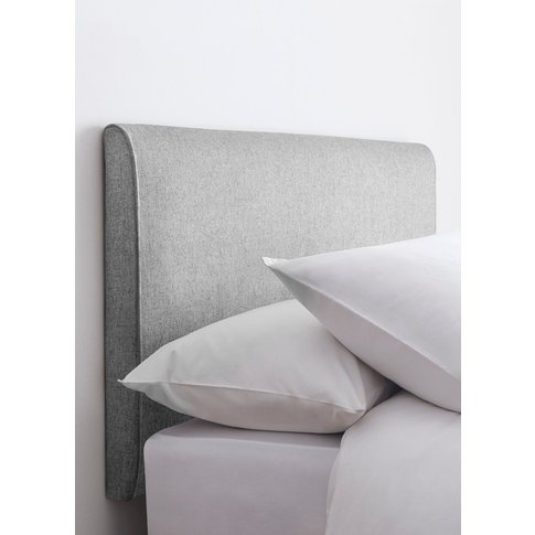 Next Contemporary Upholstered Headboard -  Grey