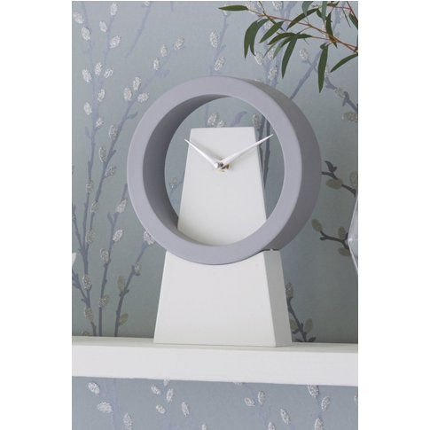 Next Contemporary Mantle Clock -  White