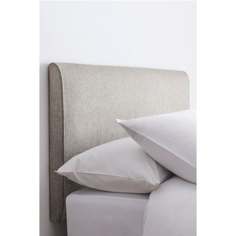 Next Contemporary Upholstered Headboard -  Natural