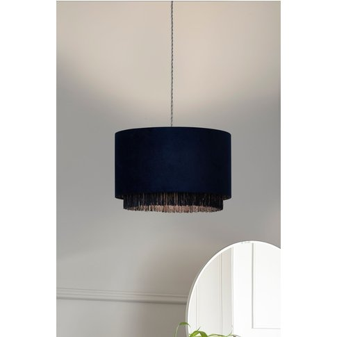 Next Clarendon Fringed Easy Fit Shade -  Blue