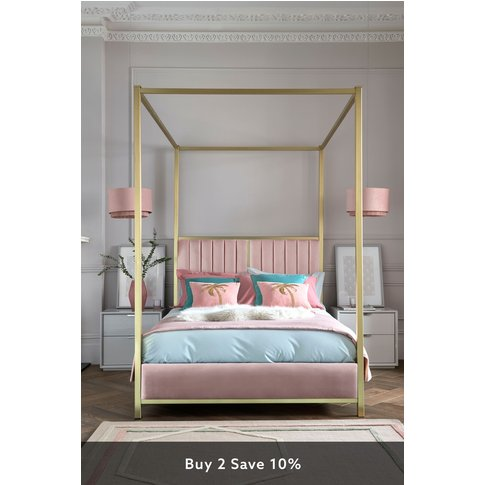 Next Langdon Four Poster Bed -  Pink