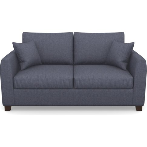 Rhossili Compact 3 Seater Sofabed In Easy Clean Plain- Navy