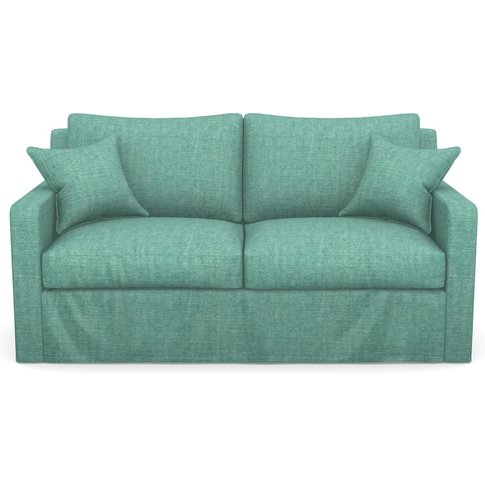 Stopham Sofabed 2.5 Seater Sofabed In Mottled Linen Cotton- Turquoise