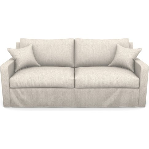 Stopham Sofabed 3 Seater Sofabed In Herringbone- Nat...