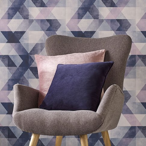 Graham & Brown Navy Blue Luxe Cushion