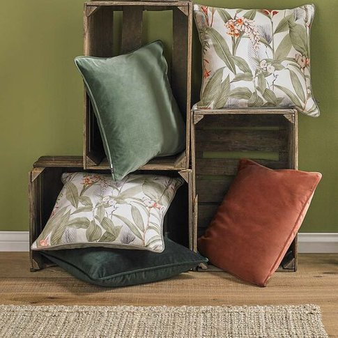 Graham & Brown Botanical Green Cushion