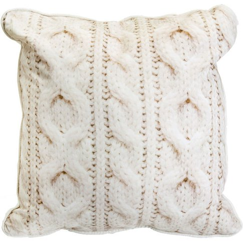 Graham & Brown Cable Knit Cushion