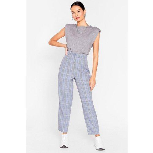 Womens Pantalon De Costume Taille Haute À Carreaux T'Es Vraiment Belle-Cos - Nasty Gal - Modalova