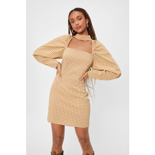Womens Bright Gingham Check Mini Dress - Nasty Gal - Modalova