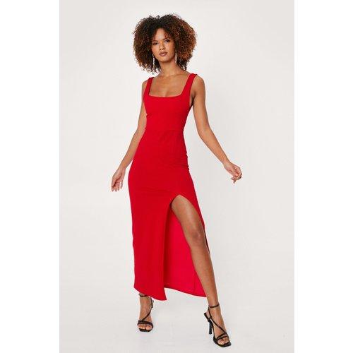 Square Neck Split Front Maxi Dress - Nasty Gal - Modalova