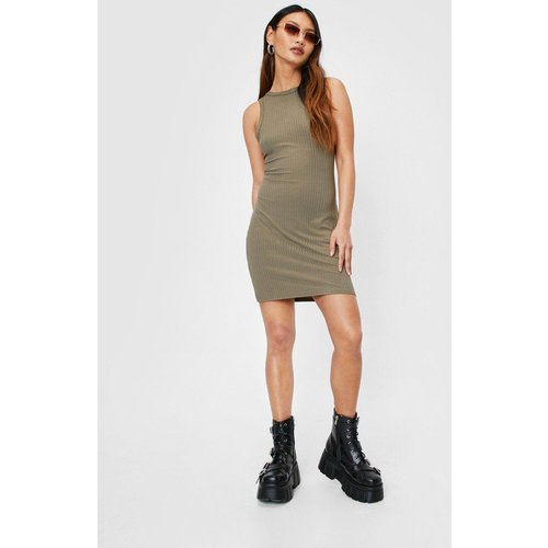 Womens Petite Ribbed Racerback Mini Dress - Nasty Gal - Modalova