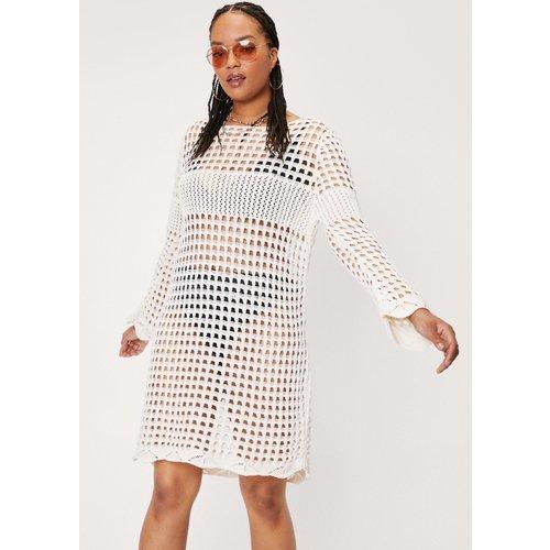 Grande Taille - Dressing Gown Ample En Crochet À Manches Longues - - 18/20 - Nasty Gal - Modalova
