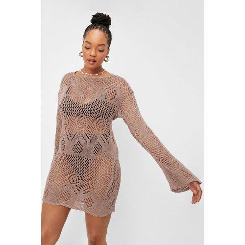 Grande Taille - Dressing Gown Courte En Crochet À Dos Nu - - 18/20 - Nasty Gal - Modalova