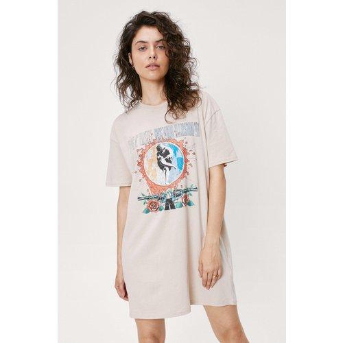 Guns And Roses Graphic T-Shirt Dress - Nasty Gal - Modalova