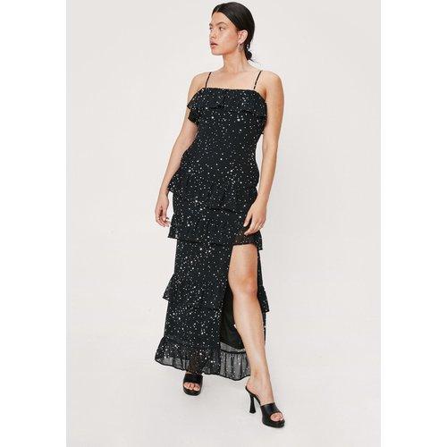 Star Print Ruffle Maxi Dress - Nasty Gal - Modalova