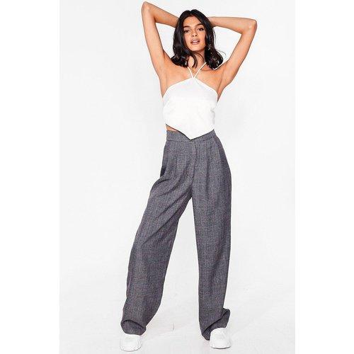 Womens Pantalon Large À Taille Haute Et Carreaux Alter Carreau - Nasty Gal - Modalova