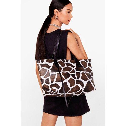 Womens Sac Cabas Oversize En Similicuir À Imprimé Girafe - Nasty Gal - Modalova