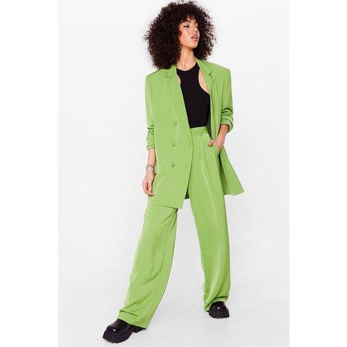 Womens Pantalon De Costume Large Une Fois N'Est Pas Costume - Nasty Gal - Modalova