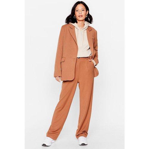 Womens Pantalon Large À Détails Plissés Parlons Sérieusement - Nasty Gal - Modalova