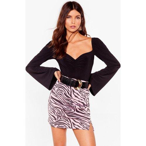 Womens Mini Jupe Taille Haute À Imprimé Zèbre T'Es Complètement Zébré - Nasty Gal - Modalova