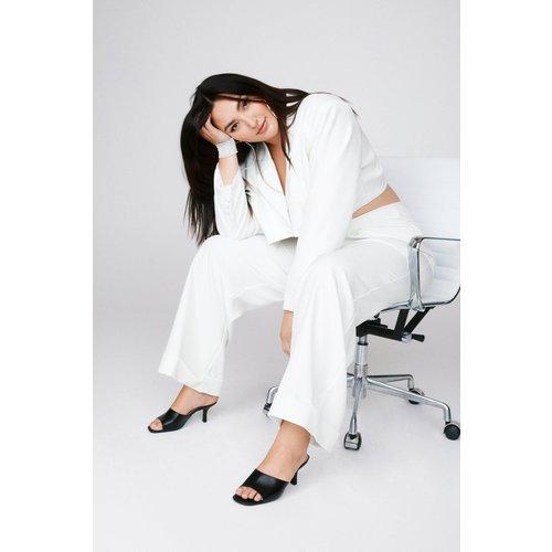 Womens Grande Taille - Pantalon Large Taille Haute Parlons Business - Nasty Gal - Modalova