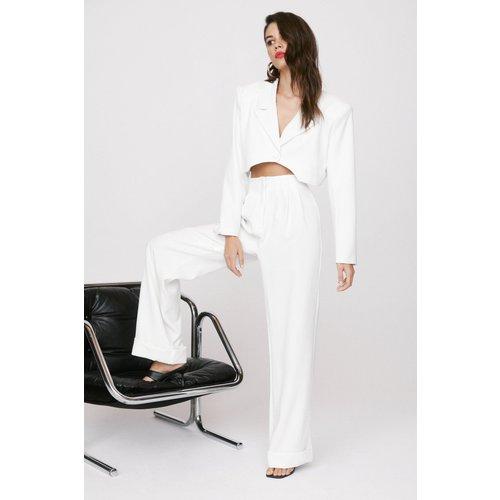Womens Pantalon Large Taille Haute Rdv Pour Parler Business - Nasty Gal - Modalova