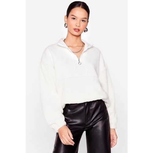 Womens Sweat Oversize Zippé En Fausse Fourrure Are You Teddy - Nasty Gal - Modalova