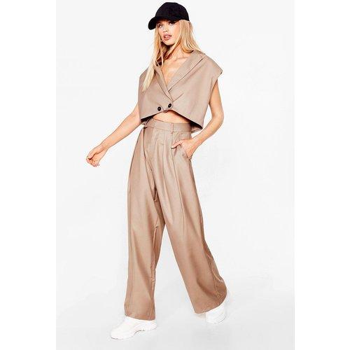 Womens Pantalon Large À Taille Haute Fait L'Un Pour L'Autre - Nasty Gal - Modalova