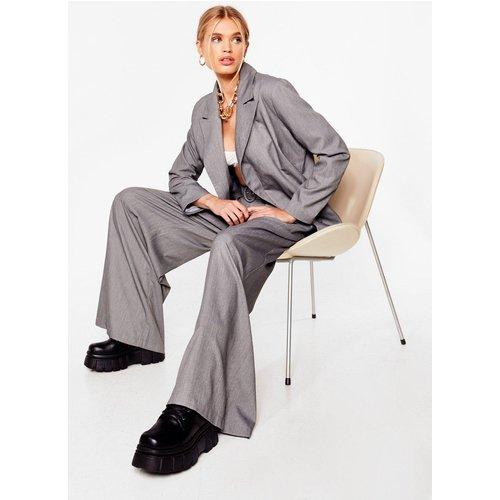 Womens Pantalon Large Ceinturé À Taille Haute Girl Boss - Nasty Gal - Modalova