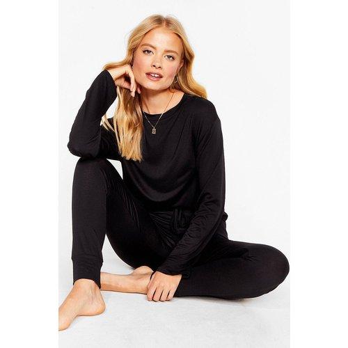 Womens Pyjama Style Sportif Top & Pantalon De Jogging Skinny Marathon Dodo - Nasty Gal - Modalova