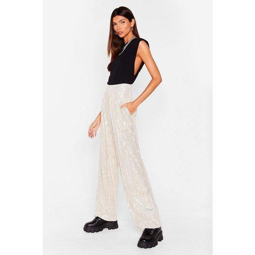Womens Pantalon Large À Sequin Peu Importe Sequin Dit De Toi - Nasty Gal - Modalova