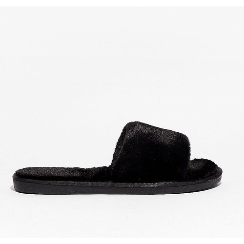 Womens Chaussons Style Claquettes En Fausse Fourrure - Nasty Gal - Modalova