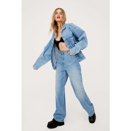 Womens Jean Large À Taille Haute - Nasty Gal - Modalova