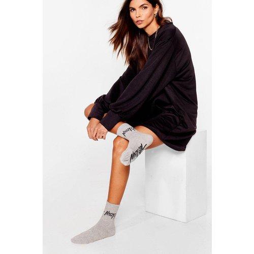 Womens Chaussettes Côtelées Griffées - Nasty Gal - Modalova