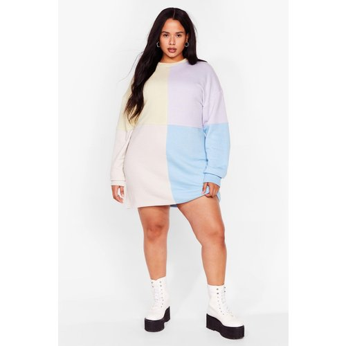 Womens Grande Taille - Dressing Gown Sweat Colorblock - Nasty Gal - Modalova